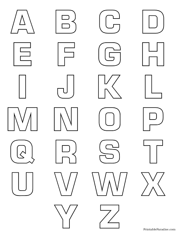 Printable Bubble Alphabet Letter Outlines