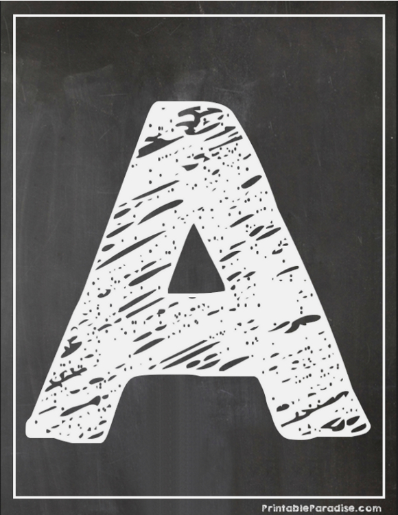 Rare image within printable chalkboard letters