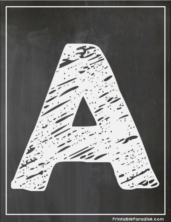 Printable Letter A Chalkboard Writing