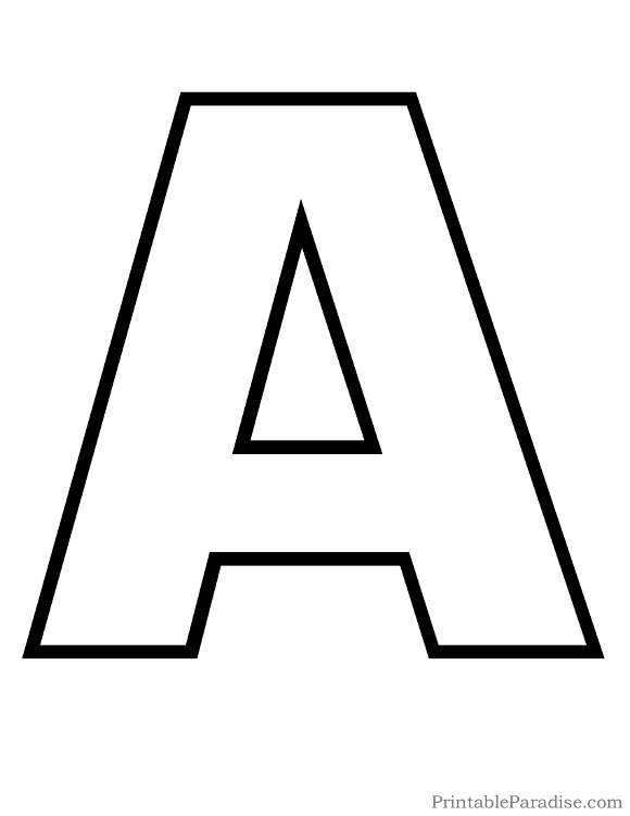 Printable Bubble Letter A Outline