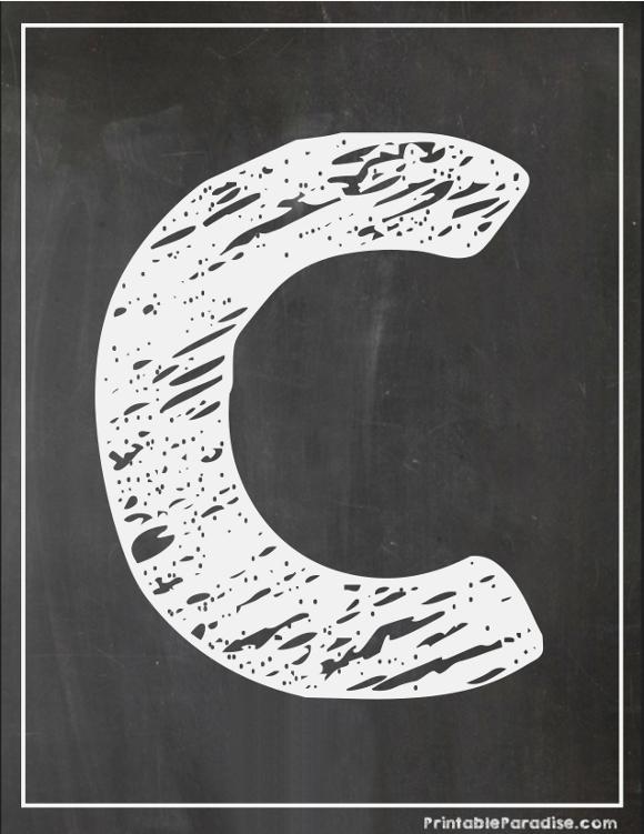 Chalk writing alphabet printables