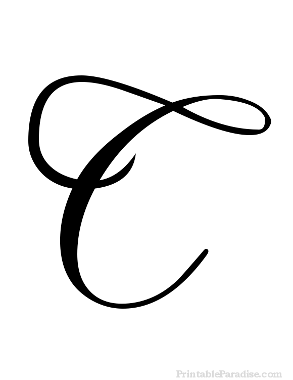Printable Cursive Letter C - Print Letter C in Cursive Writing