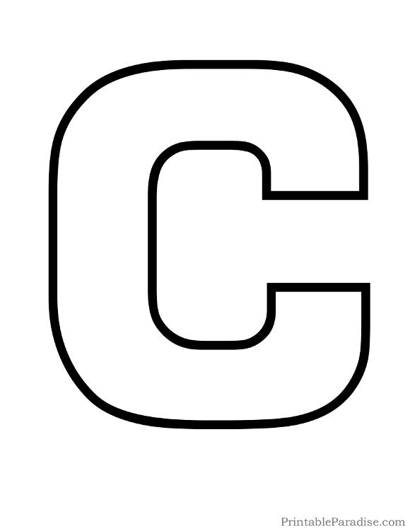 Printable Letters Print Outline Bubble Letters