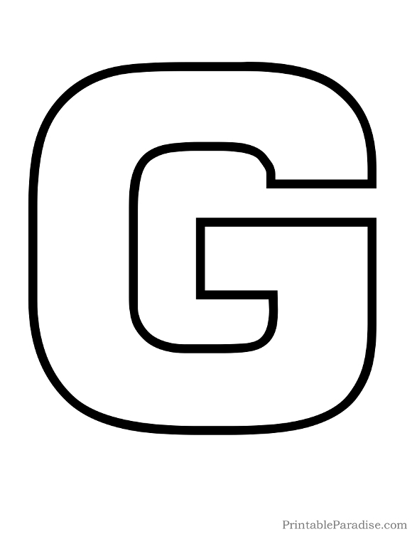 printable letter g outline
