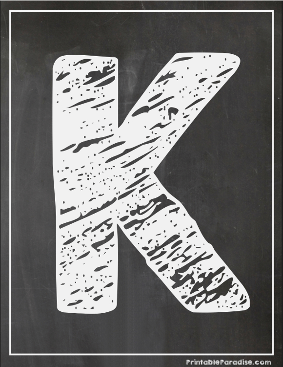 Printable Letter K Chalkboard Writing Print Chalky Letter K