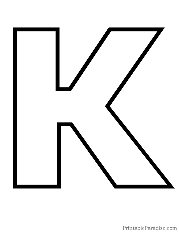 Printable Letter K Outline