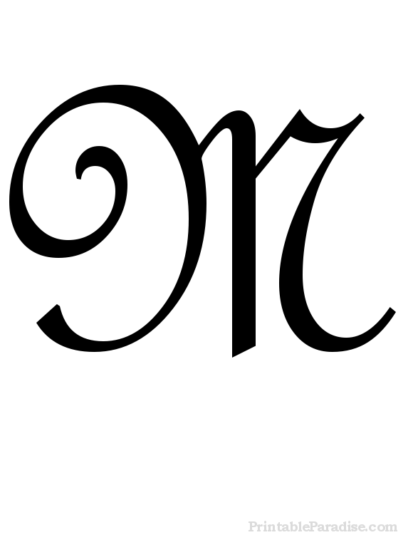 Free Coloring Pages Of Cursive Letter M