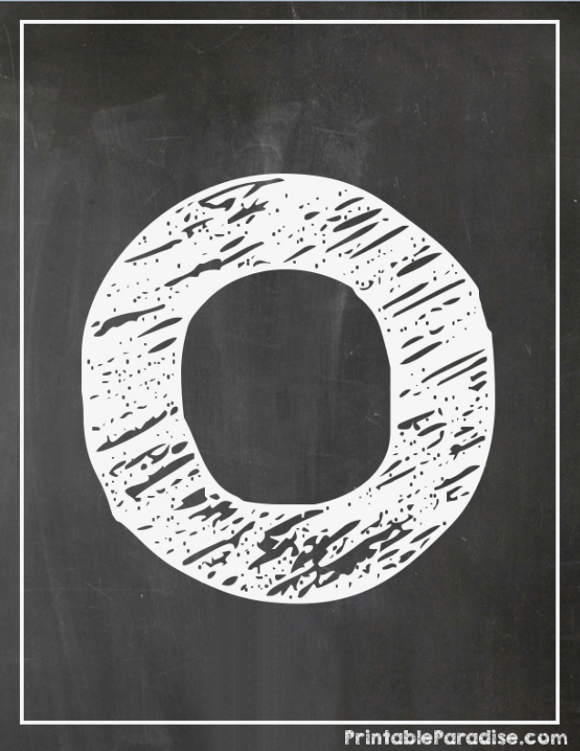 Printable Letter O Chalkboard Writing
