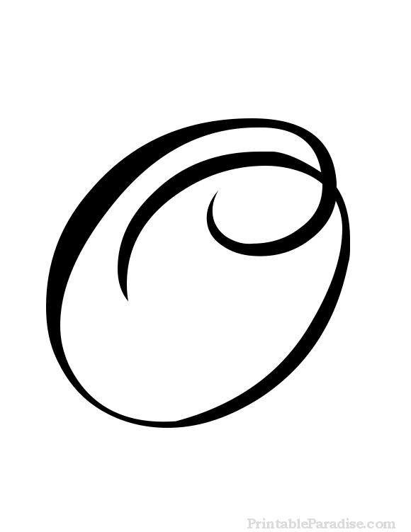 Printable Cursive Letter O - Print Letter O in Cursive Writing
