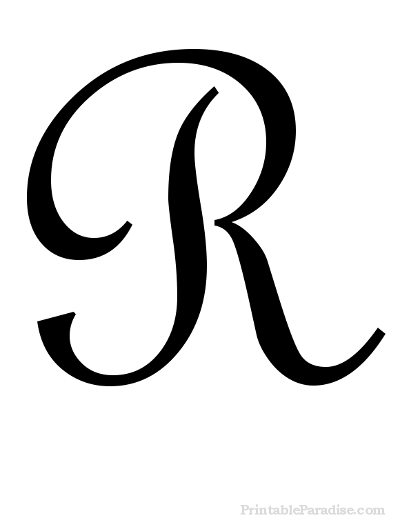 Printable Cursive Letter R - Print Letter R in Cursive Writing