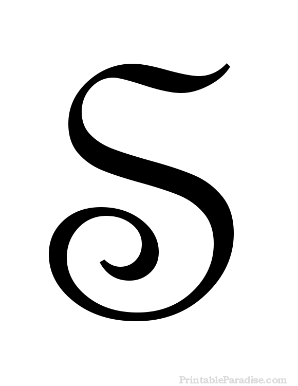 Printable Cursive Letter S - Print Letter S in Cursive Writing