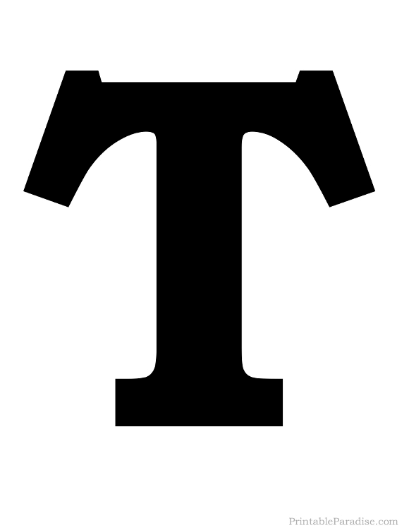 Printable Letter T Silhouette on Number Coloring Pages