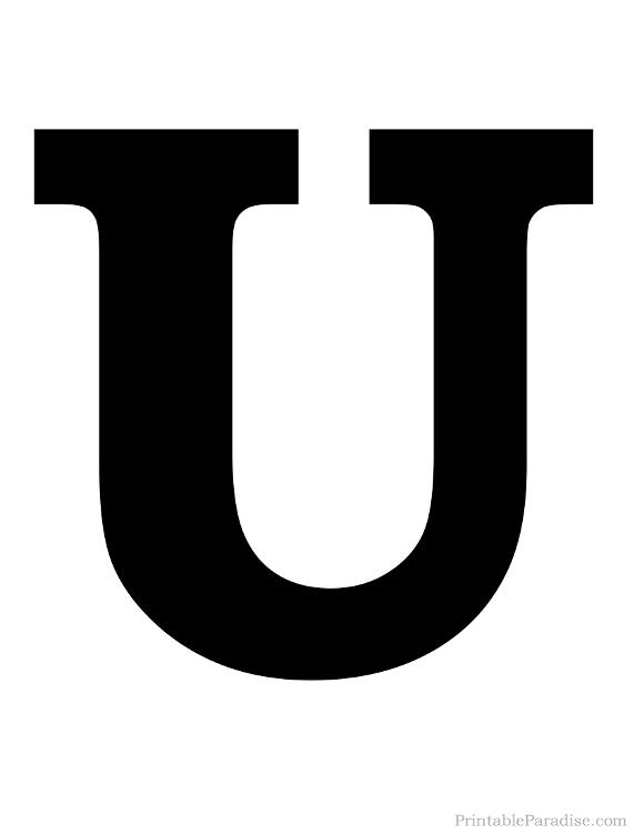 Wonderful U & Us Home Design Studio Part - 7: Printable Solid Black Letter U Silhouette