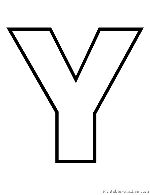 Printable Letter Y Outline