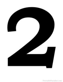 Printable Silhouette Numbers