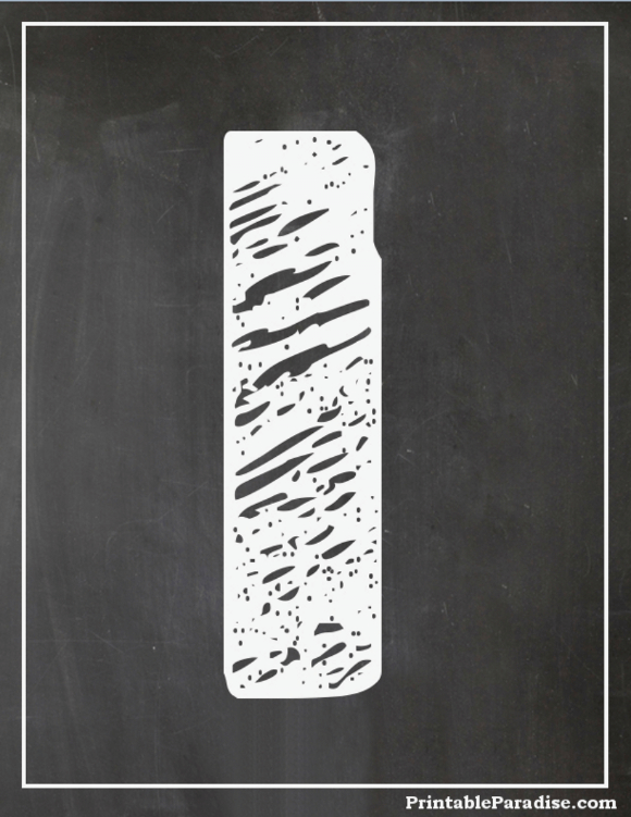 Printable Number 1 With Chalkboard Effect