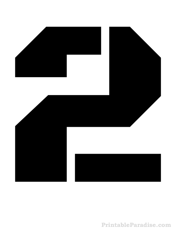 Printable Number Stencils - Free Stencils for Numbers