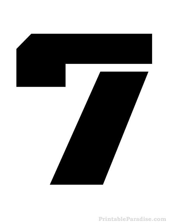 Printable Stencils for the Number 7