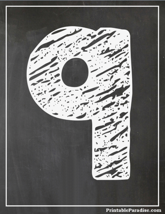 Printable Number 9 With Chalkboard Effect