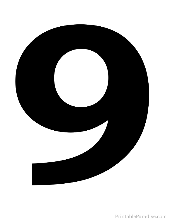 Crazy image with regard to printable number 9