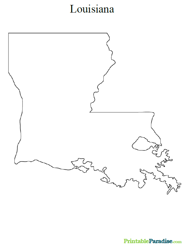 Printable Map of Louisiana