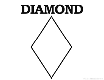 diamond coloring pages print outs - photo#33