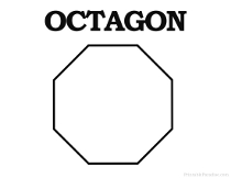Printable shapes print free shapes for Octagon coloring page
