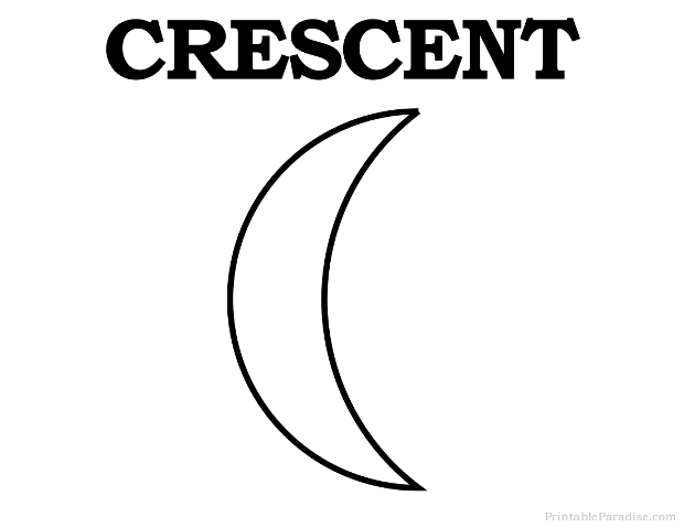 Printable Crescent Shape