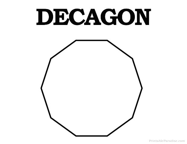 Printable Decagon Shape