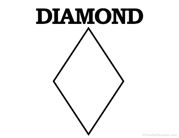 Printable Diamond Shape - Print Free Diamond Shape