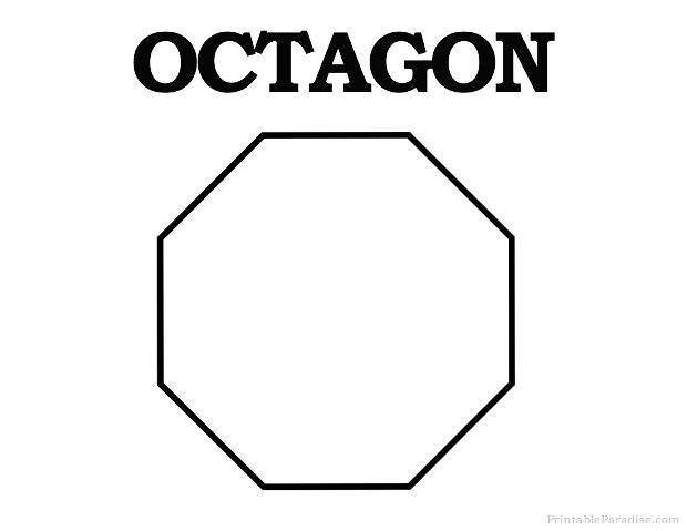 Printable Octagon Shape - Print Free Octagon Shape