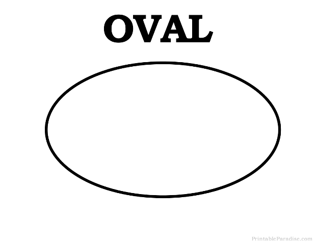 picture relating to Shapes Printable identified as Printable Oval Form - Print Absolutely free Oval Form