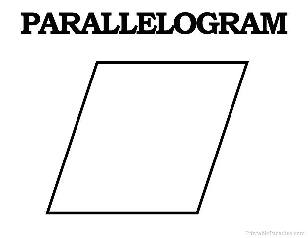 Printable Parrallelogram Shape