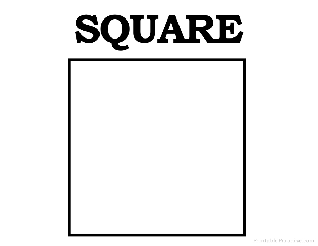 Printable Square Shape on Letter A Worksheets Printable