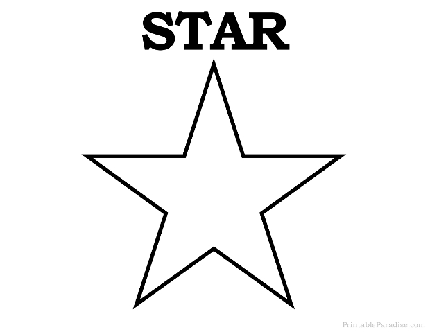 Printable Star Shape - Print Free Star Shape