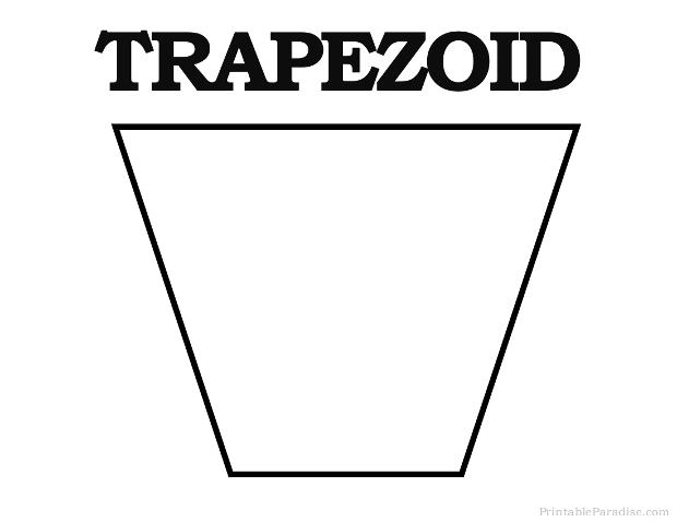 Printable trapezoid shape print free trapezoid shape