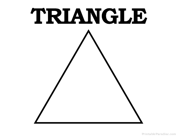 Print Free Triangle Shape