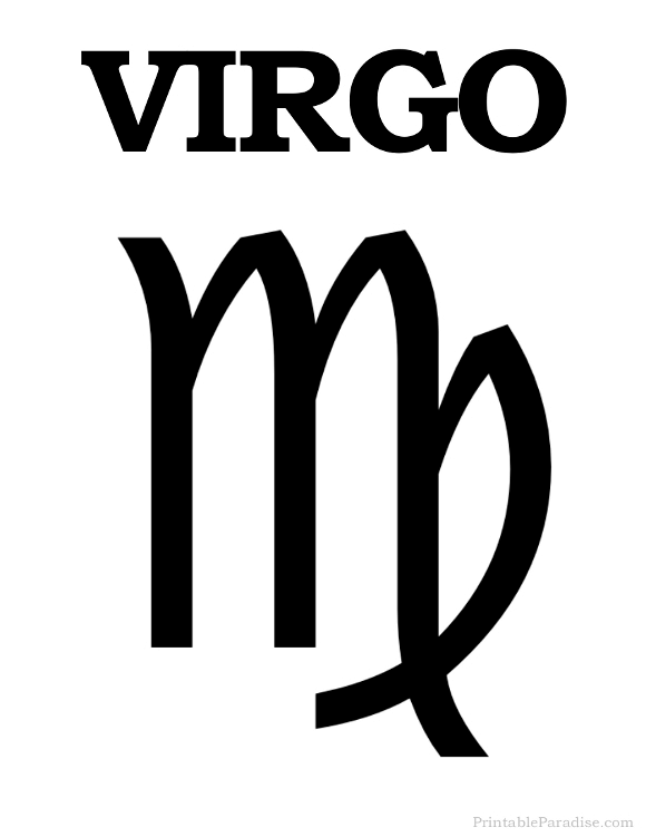 Printable Virgo Zodiac Sign Print Virgo Symbol